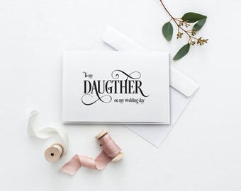 To My Daughter Card | Printable Wedding Day Card | On My Wedding Day Card | DIY To My Daughter Card | Printable Thank You Card