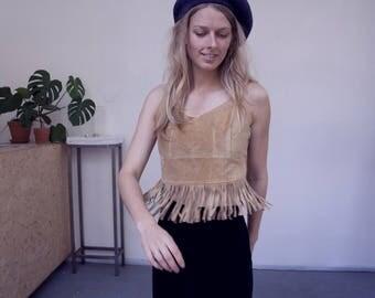 suede vintage 70's 60's hippie fringe top festival 90's boho bohemian festival summer