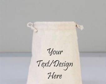 Logo Text Bag, Personalize Business Bag, Custom Bag, text bags, image Bag, Brand Bags, My Logo Bags, Advertising Bag, Cotton Bag Drawstring