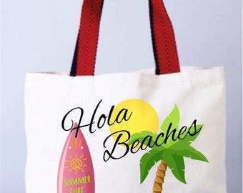 Beach Wedding Party Bag, Beach Wedding Favors,  Bachelorette Party Totes, Wedding Welcome Tote Bag, Florida Bags, Surf Wedding, Surf