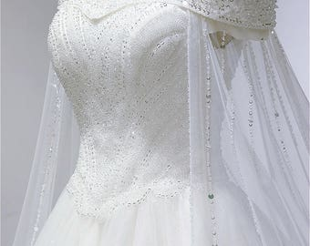 Wedding dress bridal dress White embroidery Ivory Baroque Crystal wedding gown vintage bridal gowns lace bridal dress