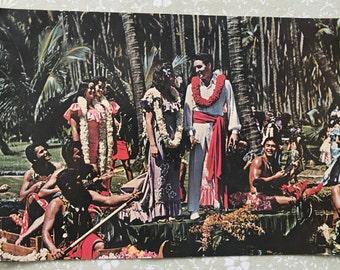 Rare Elvis Presley- Original Coco Palms Resort Postcard Featuring Elvis