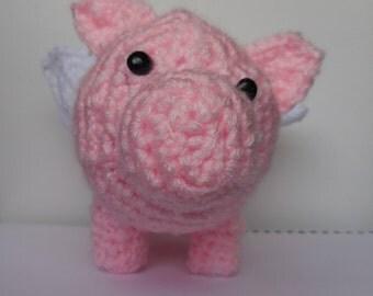 Crochet Flying Pig