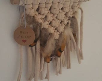 hanging wall macrame wall hanging with or without feathers