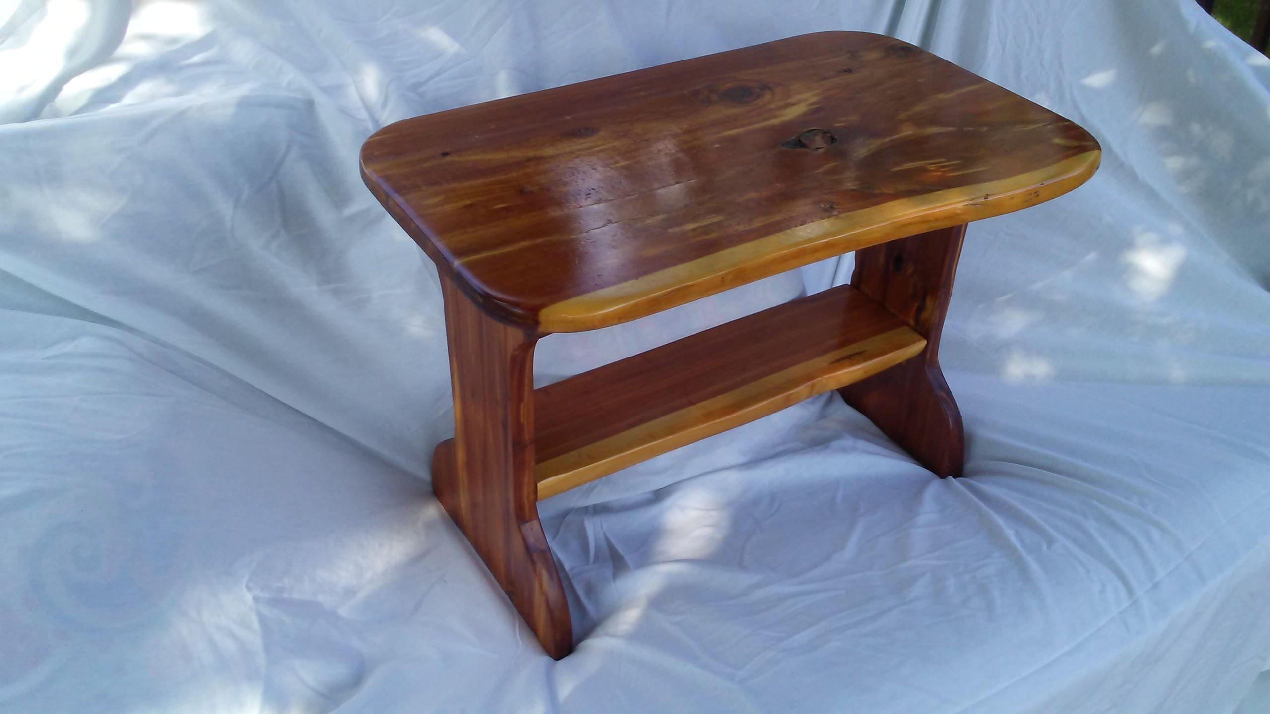 Details. Natural Live Edge Cedar Side Table ...