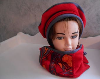 set beret and neck / / hat and scarf.