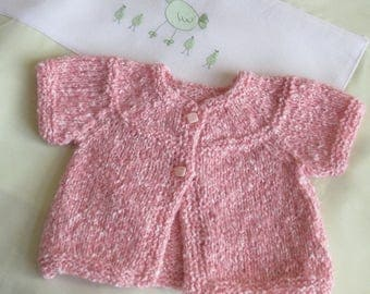 Jacket very soft in shades of pink in size 1 month