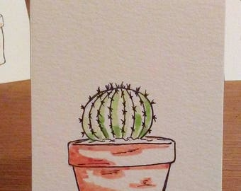 Potted Barrel Cactus Notecard