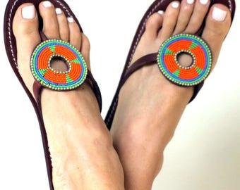 BAREFOOT SANDALS, African Sandals, Zulu Sandals, Kenyan Sandals, Tribal Sandals, Summer Sandals, Masai Sandals, Women Shoes, Women Sandals