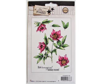 Clear stamps / stamps transparent flowers