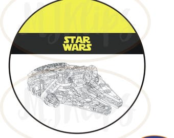 Star Wars Millennium Falcon wafer wafer edible printing