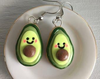 Avocado cookie earrings