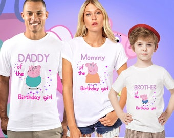 Peppa Pig Family Birthday Shirt,PEPPA PIG Custom Shirt, Personalized Peppa Pig Shirt,peppa pig family shirts, Birthday t-shirts