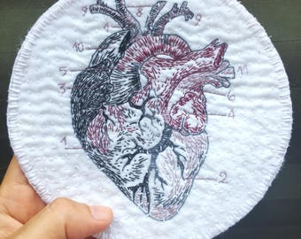 Patch/Patch embroidered anatomical heart