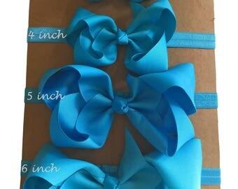 Turquoise baby headband, baby bow headband, turquoise hair bow, turquoise baby shower, turquoise hair accessory, turquoise headband babies