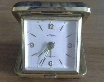 Travel Clock Veglia 7 Jewels Vintage