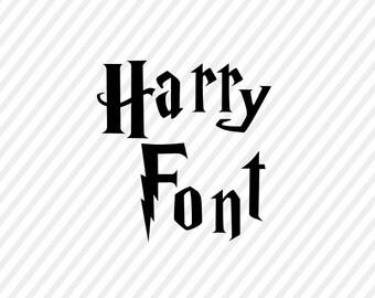 harry potter svg font, hp letters digital file, cricut file, silhouette  files, svg cutting files, clip art cricut, harry potter alphabeth