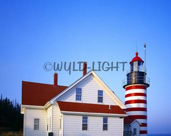 West Quoddy Head Light, Lubec, Maine Coast! MS-9950 Wall Art Home Decor Art Modern Art Lighthouse Art Lighthouse Photography
