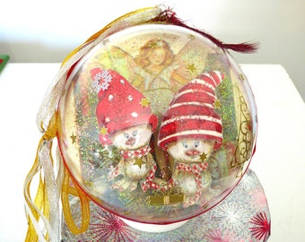 ball of Christmas 14.5 cm 3d accessories Christmas hanging, living room, Hall