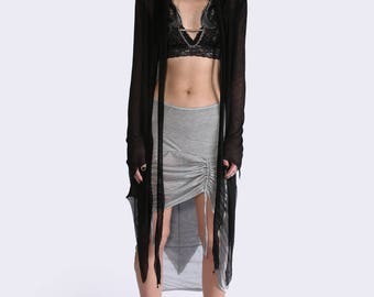 Pointy Hooded Cardigan - HIGHER GROUNDS