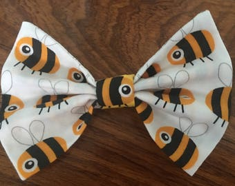 Yellow Bumble Bee Hair Bow