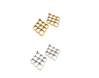 2 connectors diamonds for earrings to choose color