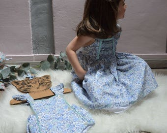Felicity liberty denim smocked dress