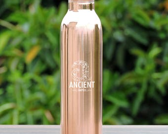 Pure Copper Leak-proof Joint-less Plain Water Bottle 900 ml (30.43 fl oz.)