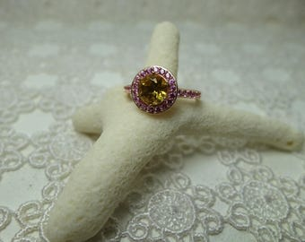 Marvel ring vermeil and cubic zirconia T55