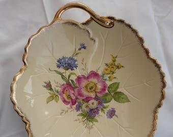 Coupe / Saladier ancien en Email de Limoges / Decoration bowl made in Enamel from Limoges, France