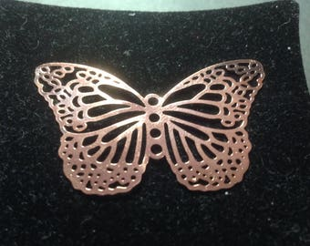 Filigree copper Butterfly charm