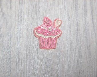 Pink cup cake patch