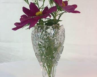 Vintage 1908 US Glass Rising Sun (Sunshine) celery vase/open spooner