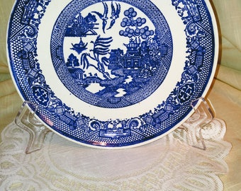 Blue Willow Dinner Plate By Royal China Company