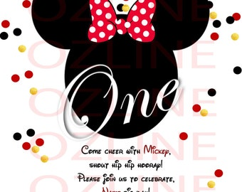 Minnie and Mickey Mouse Invitation