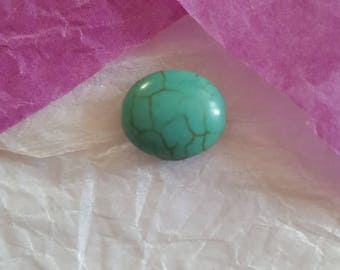 4 Howlite Turquoise beads, 12 x 13 mm. (8175868)