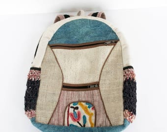Hemp Boho Backpack
