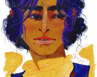 """Josephine Montilyet (5""""x7"""" or 8""""x10"""" Art Print)"""