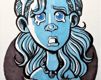 Weeping Blue (4x6 inch)