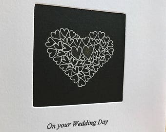 Handmade 'On your Wedding Day' card
