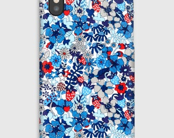 Case for iPhone X 8, 8 +, 7, 7 +, 6s, 6, 6s +, 6, 5 c, 5, 5s 5SE, 4s, 4, Liberty FLOWER TOPS C