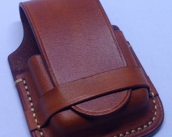 Leather lighter pouch - leather lighter case - leather lighter cover - personalized leather lighter case