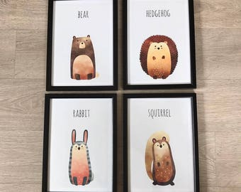 A4 Animal Nursery prints