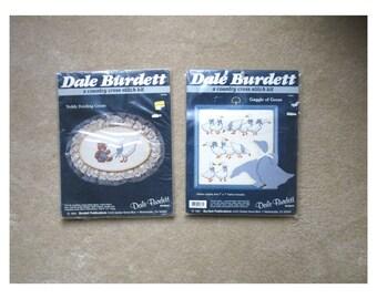 Two Dale Burdett Cross-Stitch Kits