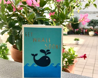 Get Whale Soon Greeting Card | Get Well Soon Card | Get Well Card
