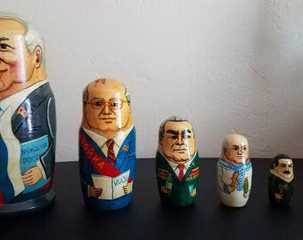 Russian Political Leaders Nesting Dolls