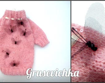 Sweater for dog. Designer sweater!!! Dog or cat sweater.  Sweater for cat.Free shipping!