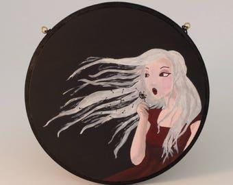 "Plate holder or decorative wall ""Dandelion girl"""