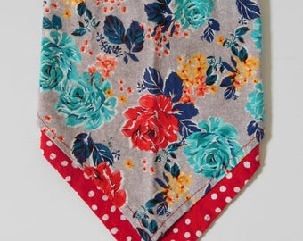 Petals and Polka Dots Double-layer Bandana