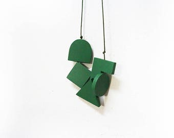 LOVED Necklace - Dark Green S006